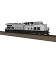modern diesel railway locomotive with great power vector image vector image