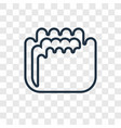 mould concept linear icon isolated on transparent vector image vector image