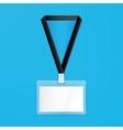 name badge empty mockup vector image vector image