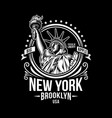 new york vintage emblem vector image