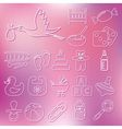 outline baby icons vector image vector image