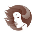 profile of a woman s face vector image