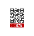 qr code button application with scan me sign icon vector image vector image