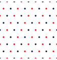red and blue polka dots on white background vector image vector image