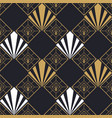 retro art deco gold geometric seamless pattern vector image vector image