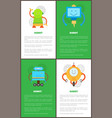 robot collection of banners vector image