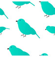 seamless pattern emerald sparrow white background vector image