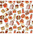seamless pattern with gift boxes with ribbons in vector image vector image