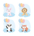 set cute animals with feeding bottle and vector image vector image