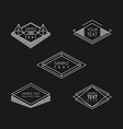 Set of Hipster Vintage Labels Logotypes Insignias vector image vector image