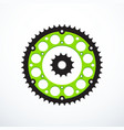 set of motorcycle sprockets vector image