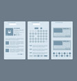 set of network pages with publications vector image vector image