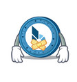 silent bitshares coin mascot cartoon vector image vector image