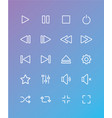 simple media player icons set vector image