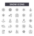 snow line icons signs set linear concept vector image