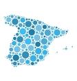 Spain map mosaic of circles vector image