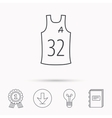 Team assistant icon Basketball shirt sign vector image vector image