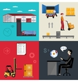 Warehousing and logistics processes vector image vector image