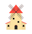 windmill like production of organic food vector image vector image