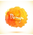 orange isolated watercolor stain vector image