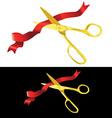 scissors cutting ribbon vector image