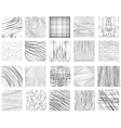 Hand drawn ink line textures vector image