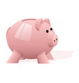 a pink pig piggy bank on a white background vector image