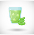 aloe vera juice flat icon vector image vector image