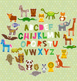 alphabet for kids from A to Z Set of funny cartoon vector image