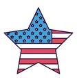american star isolated icon design vector image