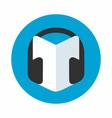 Audio guide icon vector image