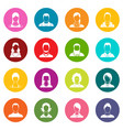 avatars set icons many colors set vector image vector image