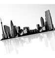 Black and white panorama of cityscape placed in vector image vector image
