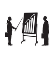 Black silhouettes of two businessmen vector image