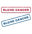 Blood Cancer Rubber Stamps vector image