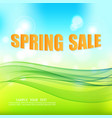 blue-green spring abstract background with green vector image vector image