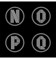 Capital letters N O P Q From white stripe in vector image