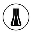 chemical bulbs icon vector image