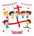 children holding england flag vector image vector image