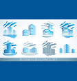city building business financial office designs vector image vector image