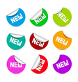 Colorful Stickers with New Title vector image vector image