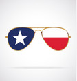 cool gold aviator sunglasses with texas state flag vector image vector image