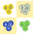 cryptocurrency altcoins icon set in flat and line vector image vector image