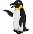 Cute funny emperor penguin presenting isolated vector image vector image