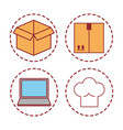 delivery related icons vector image vector image