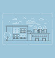 factory - modern line design style vector image vector image