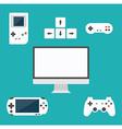 Flat design computer games concept Game vector image