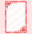 frame and border with red volume levels for vector image