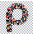 group people shape letter P Transparency vector image vector image