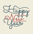happy new year vintage letter for greeting card vector image vector image